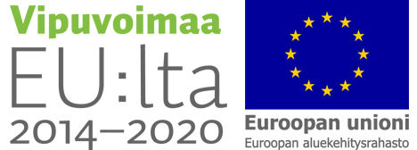Vipuvoimaa EU:lta ja EU:n aluekehitysrahaston logot.